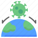 contagious, globe, medical, outbreak, virus, world icon