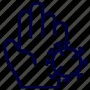 bacteria, contagious, corona, covid, hand, ilness, virus icon