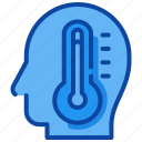 degrees, fever, people, temperature, thermometer icon