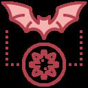 bat, coronavirus, diagnosis, outbreak, scientist icon