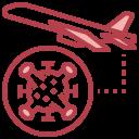 coronavirus, flight, plane, prohibition, travel icon