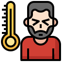 avatar, fever, mercury, sick, thermometer icon