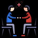 communication, coronavirus, man, meeting, talking