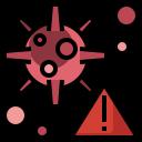 bacteria, coronavirus, danger, virus, warning icon