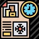 regulatory, announcement, report, journal, newspaper icon