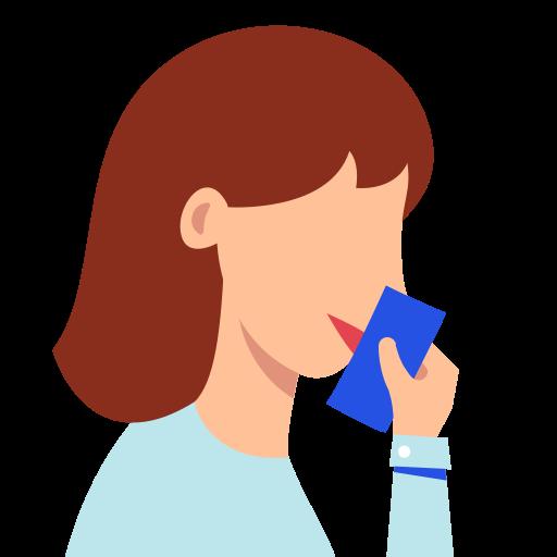 close, cough, mouth, tissue icon