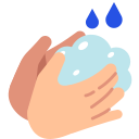corona virus, coronavirus, covid19, hand, soap, wash icon