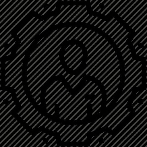 Cog, leader, management, manager, professional icon - Download on Iconfinder