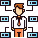 business, business man, corporate, manager, network, organisation, team icon