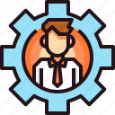 business, business man, career, corporate, human, management, process icon