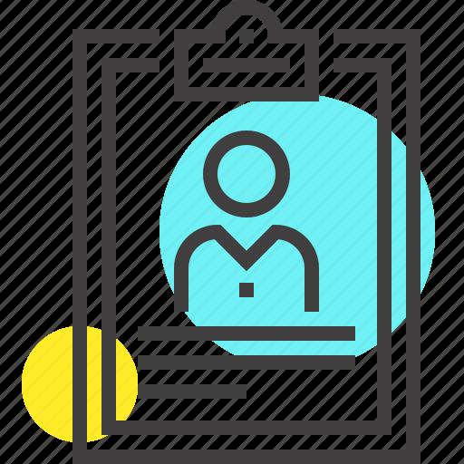clipboard  contract  cv  document  form  portfolio  resume icon