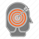 arrow, business, corporate, goal, head, headhunter, target icon