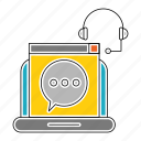 business, chat, communication, computer, corporate, device, speech icon