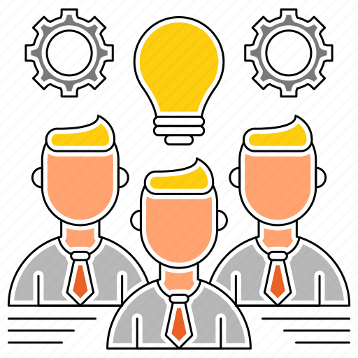 business, corporate, idea, skills, team icon