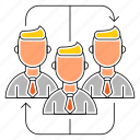 business, corporate, group, teamwork icon