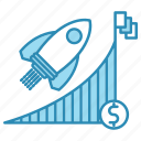 advancement, career, coin, corporate business, dollar, flag icon
