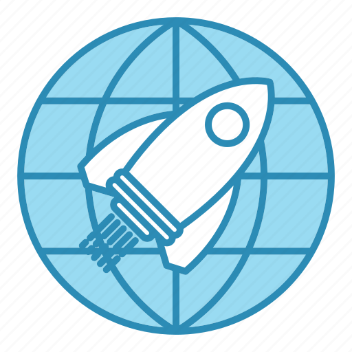 corporate business, mission, rocket, seo, travel icon