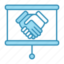 corporate business, deal, hands, partneship icon