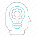 corporate business, efficiency, idea, solution icon