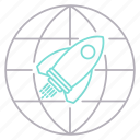 corporate business, launch, mission, rocket icon