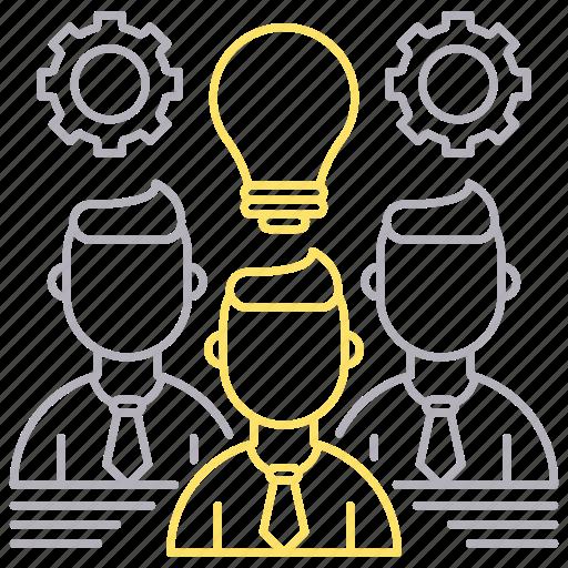 corporate business, idea, skills, team icon