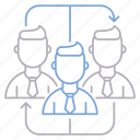 corporate business, teamwork icon