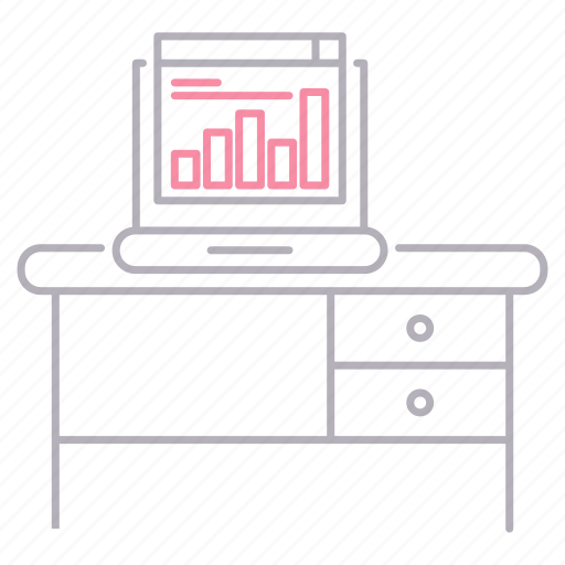 chart, computer, corporate business, online, report, workplace icon