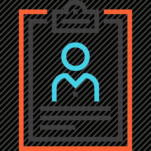 clipboard, contract, cv, document, form, portfolio, resume icon