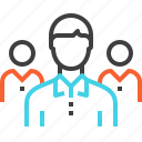 group, leader, leadership, people, person, team, teamwork icon