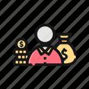 accountant, bangking, bank, deposit, fee, income, salary