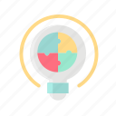 business, challenge, maze, puzzle, solution, strategy, target icon