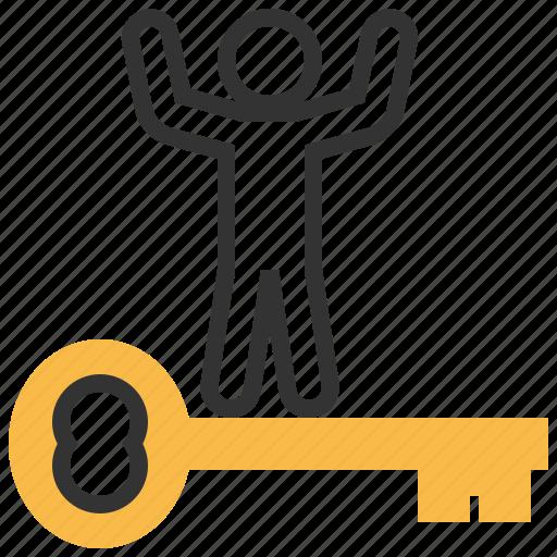 account, business, key, marketing, person, profile, seo icon