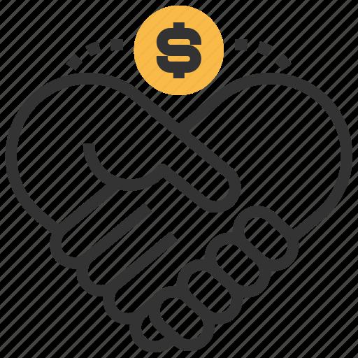 business, cash, finance, management, partnership, seo, teamwork icon