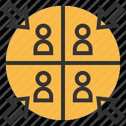 business, effort, finance, management, team icon