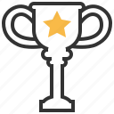 achievement, award, prize, reward, star, trophy, winner icon