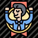 achievement, employee, excellent, reward, success icon