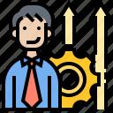 ability, development, improve, performance, personal icon
