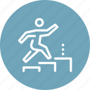 career, growth, human, ladder, personal, professional, success icon