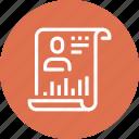 contract, cv, document, form, portfolio, resume, skills icon