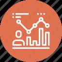 chart, data, efficiency, management, person, productivity, statistics