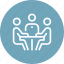 business, businessman, conference, discussion, meeting, people, team icon
