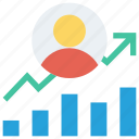 chart, circle, community, management, transaction icon