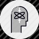 ability, capability, head, human, knowledge, skill, thinking icon