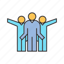 people, success, teamwork icon