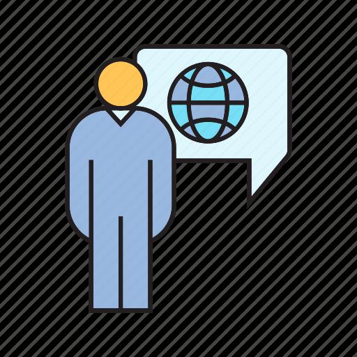 globe, people, world icon