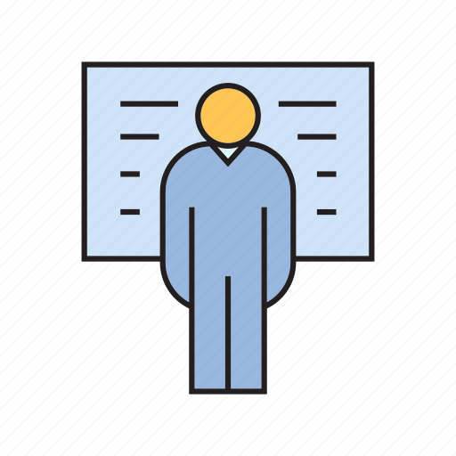 corporate, management, office, organization, people, present, whiteboard icon