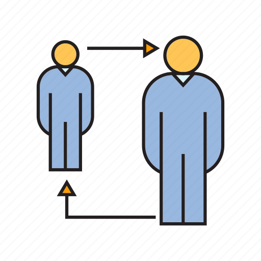 allocation, people, promotion, rotate, worker icon