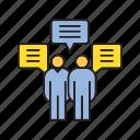 communication, people, speech, talk icon