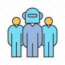 artificial intelligence, employee, humanoid, robot, robot worker, teamwork icon