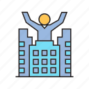 building, entrepreneur, investor, real estate icon